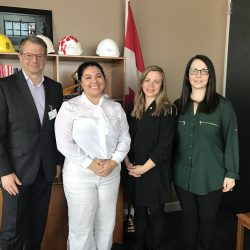 Meeting Health Canada, with Lhori Webster and Tahiya Bakht.  CSMB executives: Tarik Moroy, Katey Rayner and Paola Marignani
