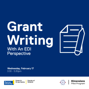 Grant writing with an EDI perspective